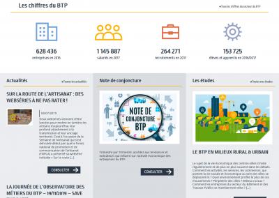 Site de l'Observatoire des métiers du BTP